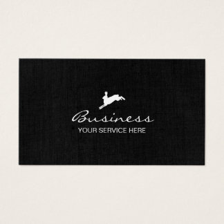 Jumping Hare Classy Dark Linen Business Card