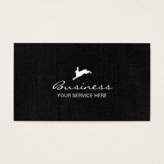 Jumping Hare Classy Dark Linen Business Card