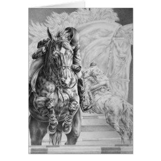 Jumping Horse Drawing by Kelli Swan Card