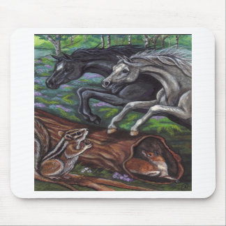 JUMPING HORSES Chipmunk Fox Mousepad