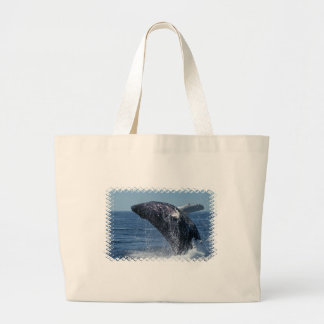 Jumping Humpback Whale Canvas Bag