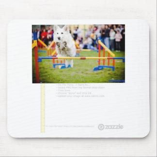Jumping Hurdle Dog Mousepads
