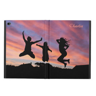 Jumping in the Sunset custom name device cases
