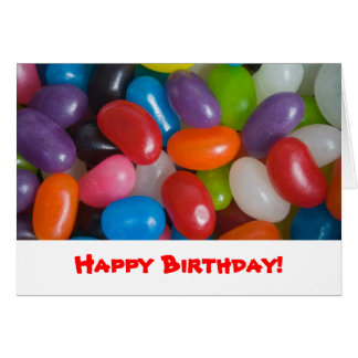 Jumping Jelly Beans Card