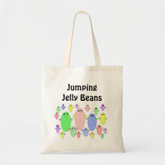 Jumping Jelly Beans Tote Bags