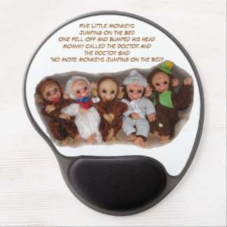 Jumping & Monkeying Around Mouse Pad Gel Mouse Pad