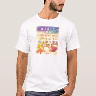 Jumping Off Cliffs Motivational Quote T-Shirt
