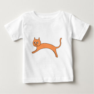 Jumping Orange Cat. Baby T-Shirt