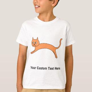 Jumping Orange Cat. T-Shirt