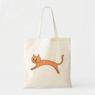 Jumping Orange Cat. Budget Tote Bag