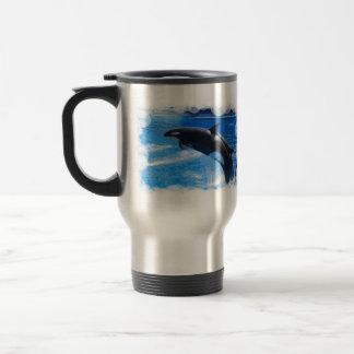 Jumping Orca Whale Travel Mug