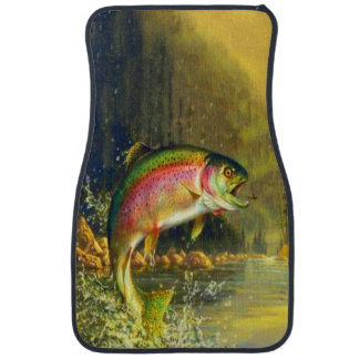 Jumping Rainbow Trout Car Mat
