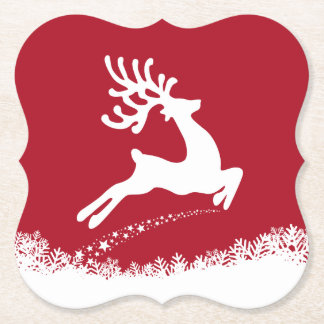 Jumping Reindeer paper coasters