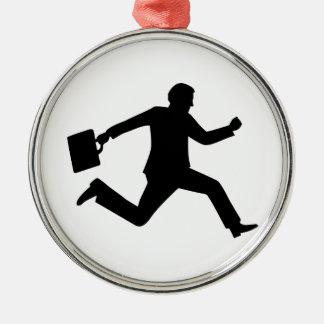 Jumping running business man ornament