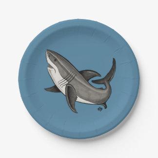 jumping shark paper plate