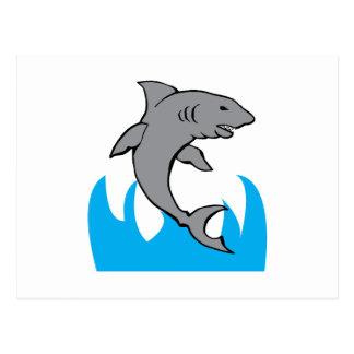 Jumping Shark Postcard