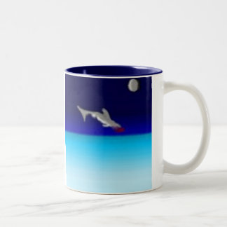 Jumping Shark Two-Tone Coffee Mug