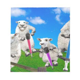 Jumping Sheep Notepad