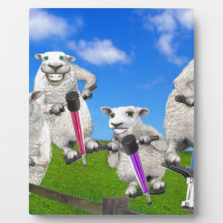 Jumping Sheep Plaque
