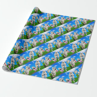 Jumping Sheep Wrapping Paper