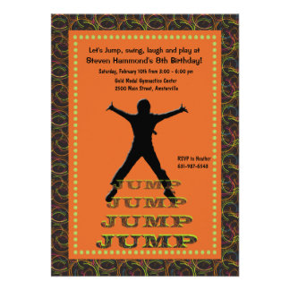 Jumping Silhouette Invitation