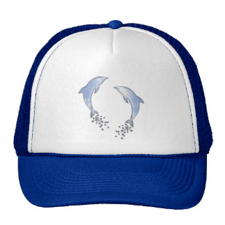 Jumping Sparkling Blue Dolphin With Bubbles Cap