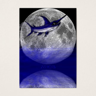 Jumping Swordfish in the Moon Business Cards