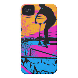 Jumping the Ramp - Scooter Champ Case-Mate iPhone 4 Case