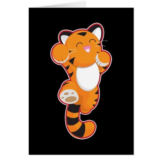Jumping Tiger Card