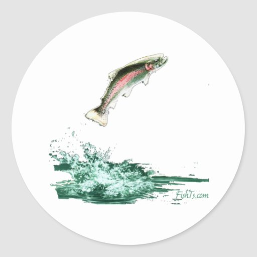 Jumping Trout Stickers
