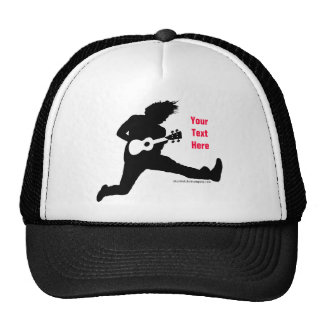 Jumping Ukulele Man Trucker Hat