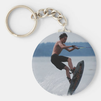 Jumping Wakeboarder Keychain