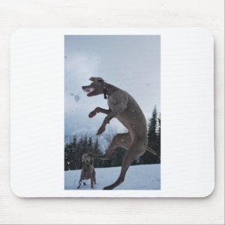 Jumping Weimaraner Mouse Mat