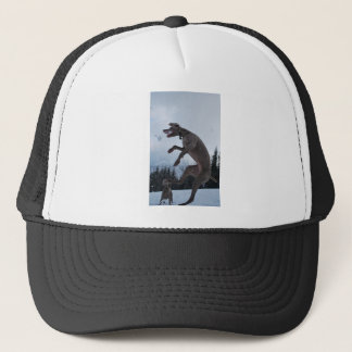Jumping Weimaraner Trucker Hat