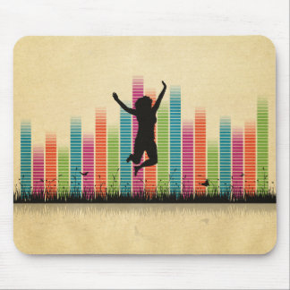 Jumping Women In Nature Mouse Pad