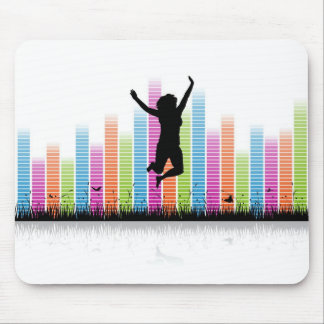Jumping Women In Nature Mouse Pads