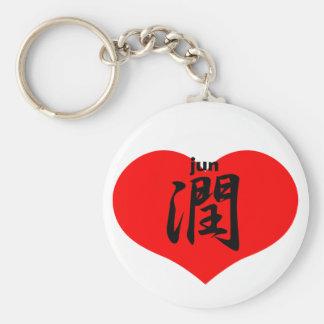 Jun jun basic round button key ring