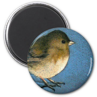 JUNCO BIRD DRAWING 6 CM ROUND MAGNET