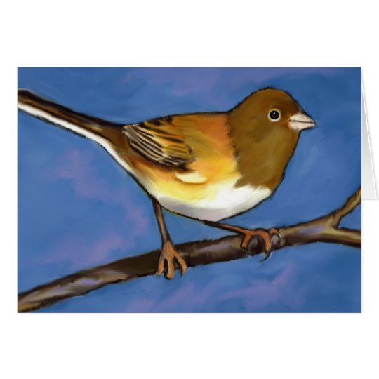 Junco: Bird: Wildlife Art: Painting Card