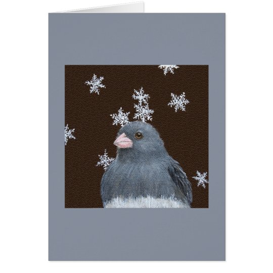 Junco Christmas card