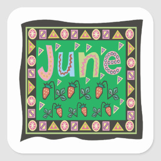 June 4 square sticker