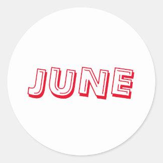 June Alphabet Soup Red White Sticker by Janz