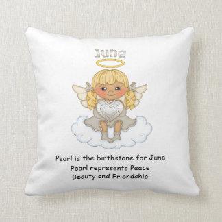June Birthstone Angel Blonde Cushion