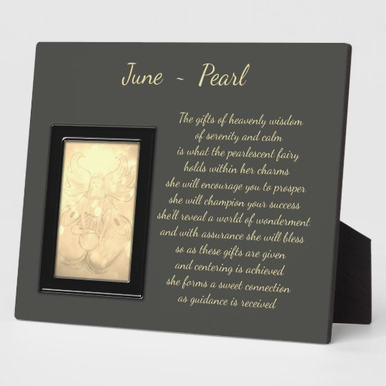 June Birthstone Pearl Plaque