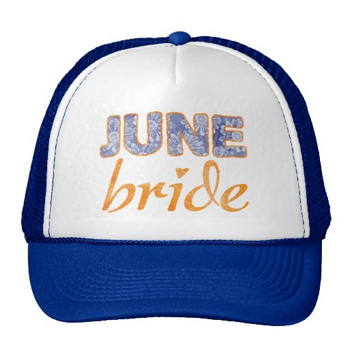 June Bride Wedding T-Shirt Hat