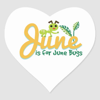 June Bug Heart Stickers