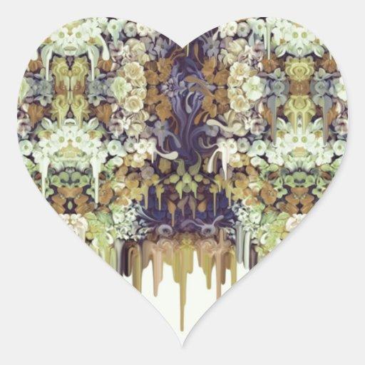 June Bug, melting floral pattern Sticker