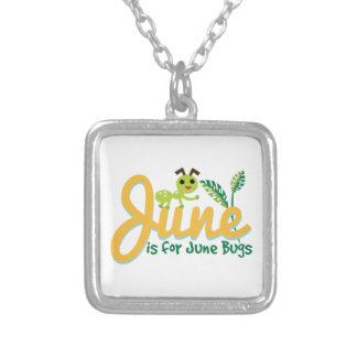 June Bug Silver Plated Necklace