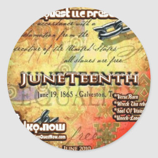 June - JuneTeenth Classic Round Sticker