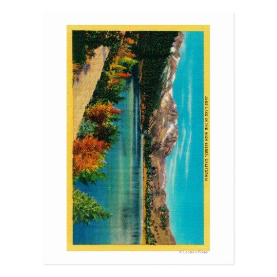 June Lake in the High SierraMono County, CA Postcard